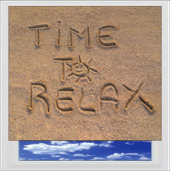 Time to Relax Digitally Printed Photo Roller Blind