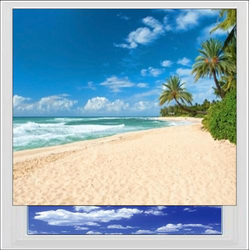 Tropical Beach Digitally Printed Photo Roller Blind