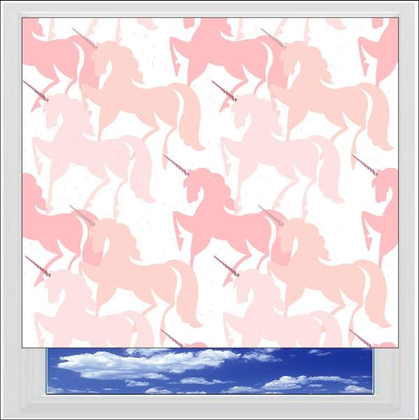 Unicorns Shadow Digitally Printed Photo Roller Blind