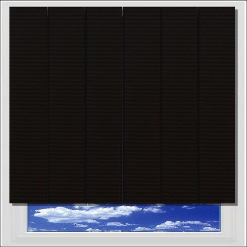 Unilux Black PVC vertical blind