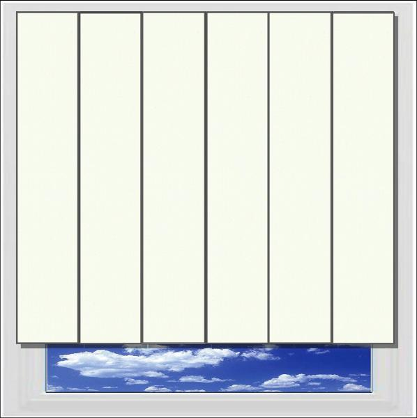 Unilux Cream PVC vertical blind