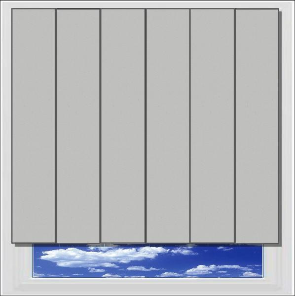 Unilux Grey PVC Vertical Blind