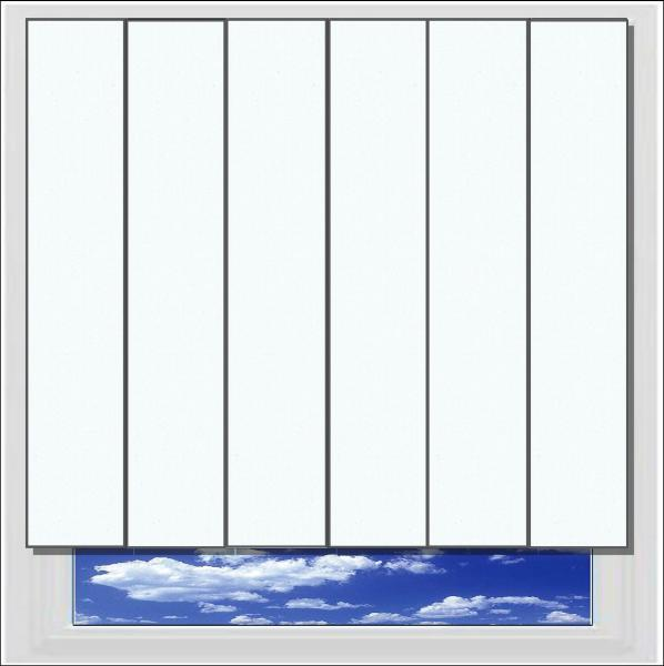 Unilux White PVC vertical blind