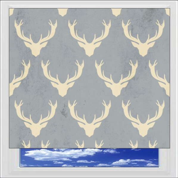 Vintage Stags Heads Digitally Printed Photo Roller Blind