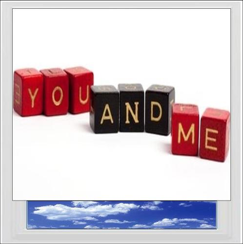 You And Me Digitally Printed Photo Roller Blind