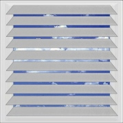 Brushed Aluminium venetian blind