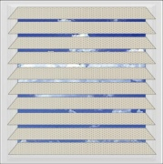 Cream Filtra perforated aluminium venetian blind