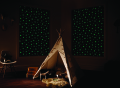 Glow In The Dark Stars blackout roller blind