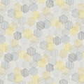Hexagon Yellow Roller Blind
