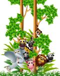 Jungle Fun Digitally Printed Photo Roller Blind