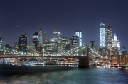 New York City at Night Digitally Printed Roller Blind