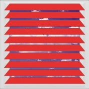 Primary Red aluminium venetian blind