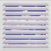 Quartz Red aluminium venetian blind
