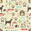 Retro Dogs Digitally Printed Photo Roller Blind