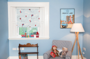 Up and Away Blue Sky Blackout Roller Blind