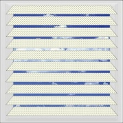 White Filtra perforated aluminium venetian blind