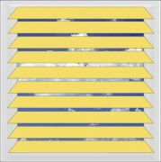 Yellow aluminium venetian blind