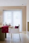 Zara White vertical blind